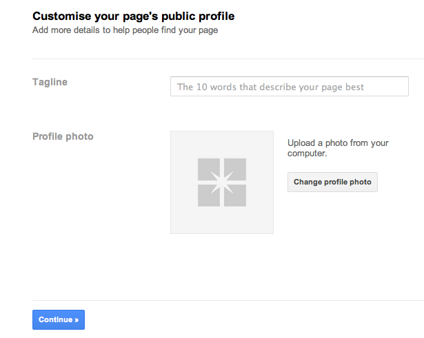 Setup Google Plus For Business Step 4