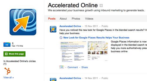 Google Plus Business Page